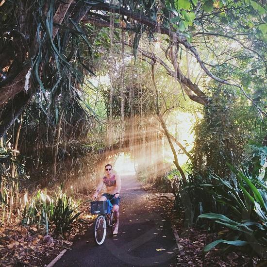 man on bike photo