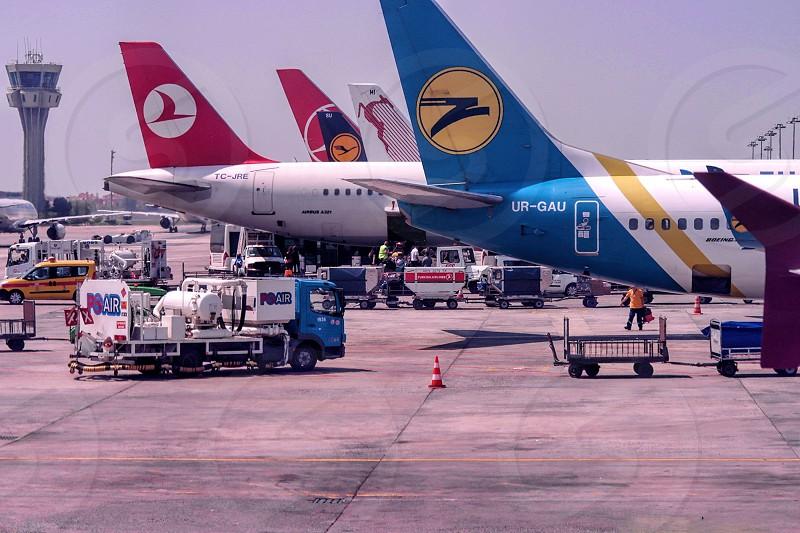 Istanbul airport Turkey. photo