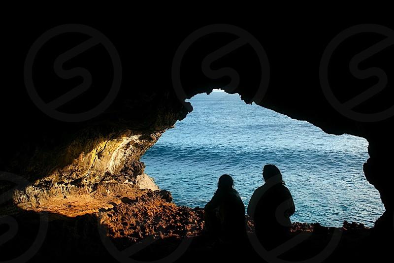 sea cave view photo