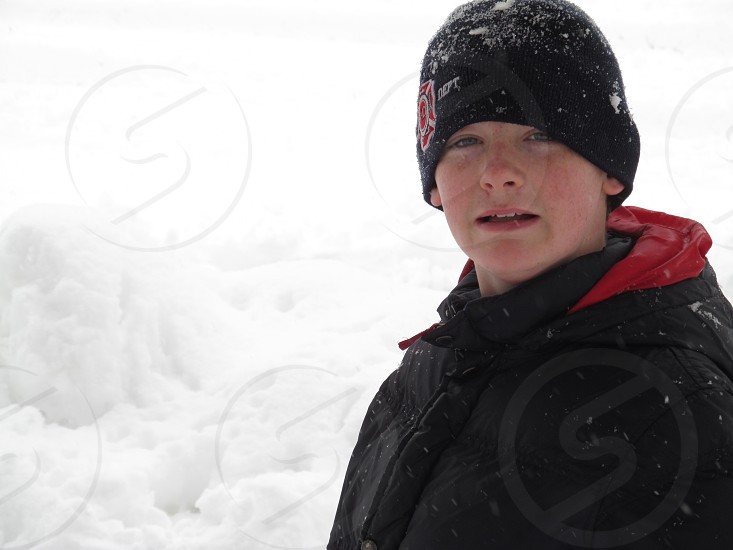 Snow day!   Rosy cheeks  runny nose  but all completely worth it to be out of school and getting to play in the snow. photo