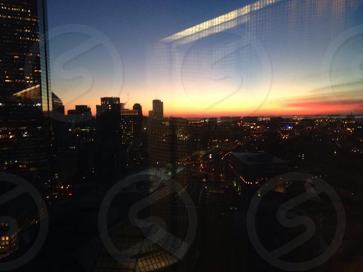 Boston at sunrise photo