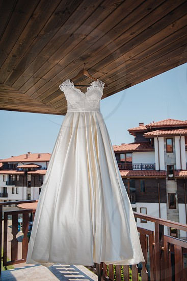 Wedding dress is ready for the bride photo