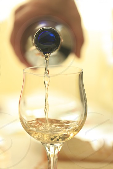 clear wine glass in shallow focus lens photo