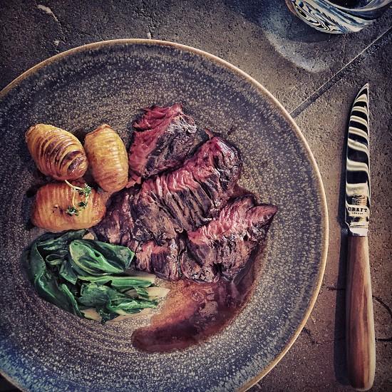 London restaurant steak lunch  photo