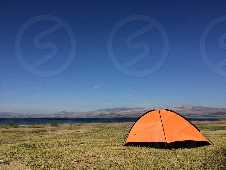Camping. Summer. Lake. Scenery. Scenic  photo