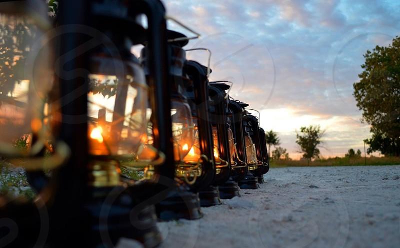 tubular lanterns on floor photo