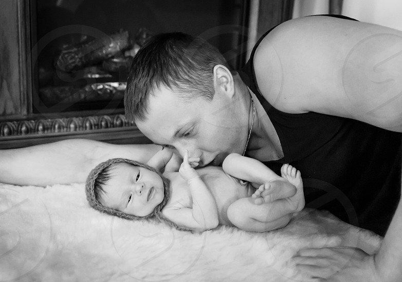 Father and child photo