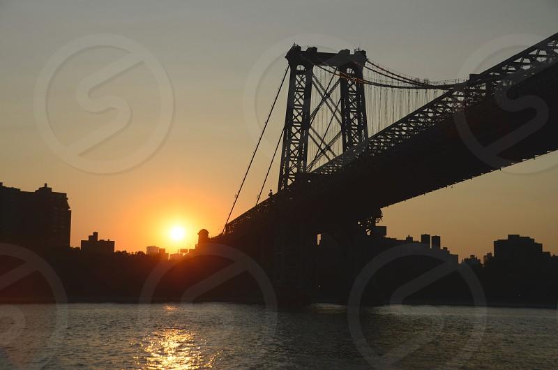 Sunset and the bridge. photo