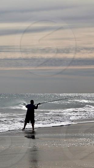 Against the ocean photo