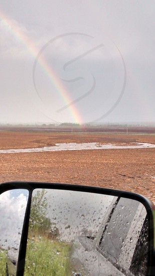 Rainbow after the flooding rain photo