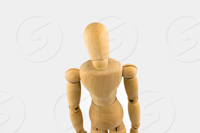 Wooden Figure Facing the Viewer photo