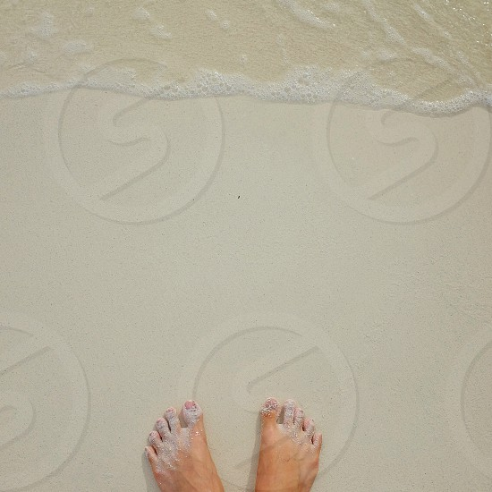 Powdery White Sand and Crystal Clear water photo