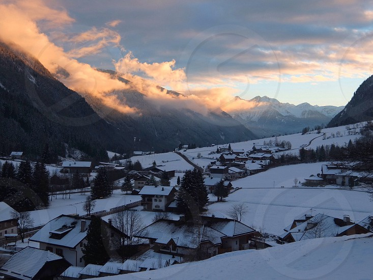 Sunset clouds in Anterselva photo