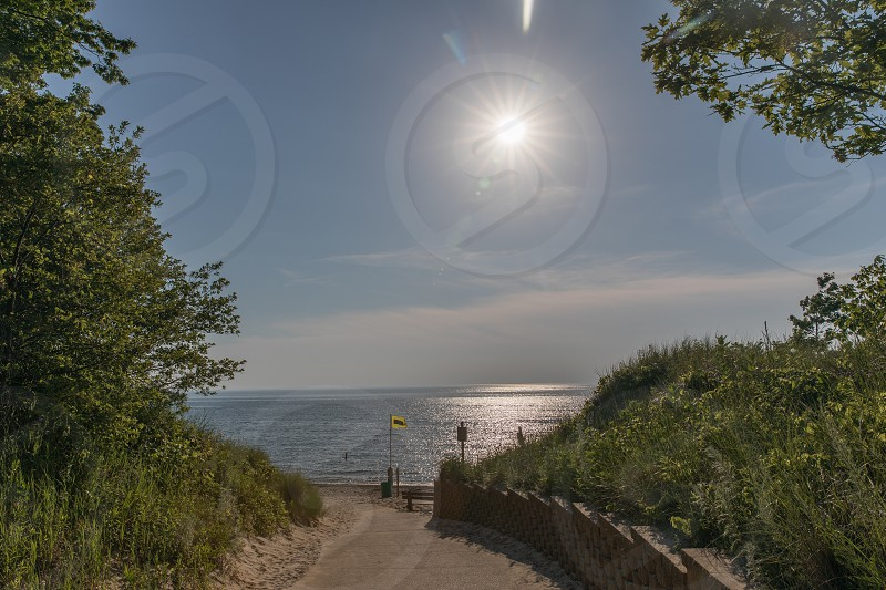 The entrance to Van Buren State Park in South Haven Michigan photo