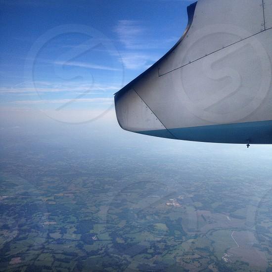 holiday flight over france photo