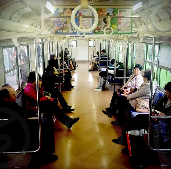 interior view of commercial train photo