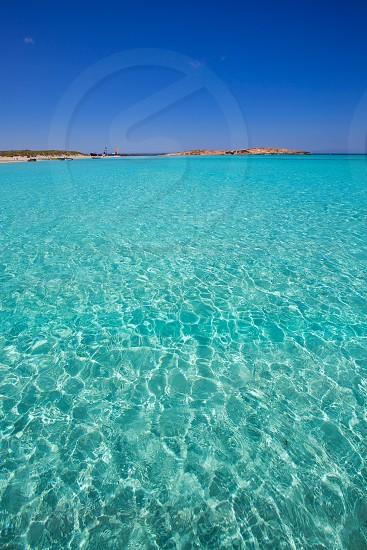 Illetes Illetas turquoise beach in Formentera Balearic Island photo