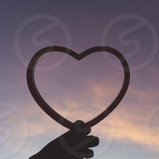 heart shape silhouette  photo