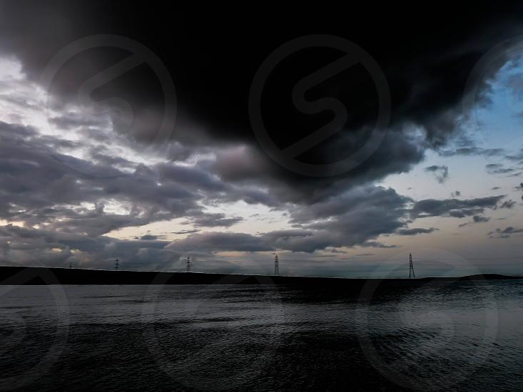Stormy night on Blackstone Edge photo