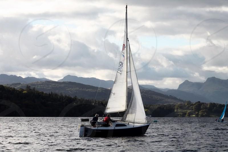 Sailing on the lake photo