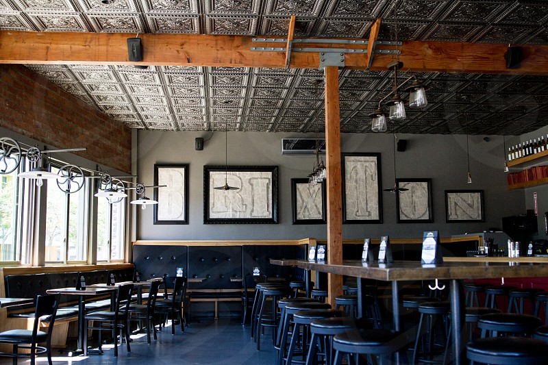 restaurant establishment interior design photo