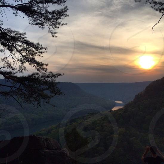 Signal point mnt sun sett  photo