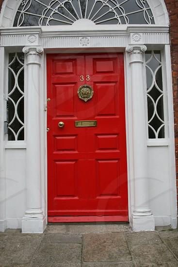 red door in Dublin Ireland photo