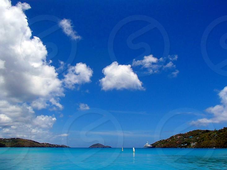blue seawater view photo