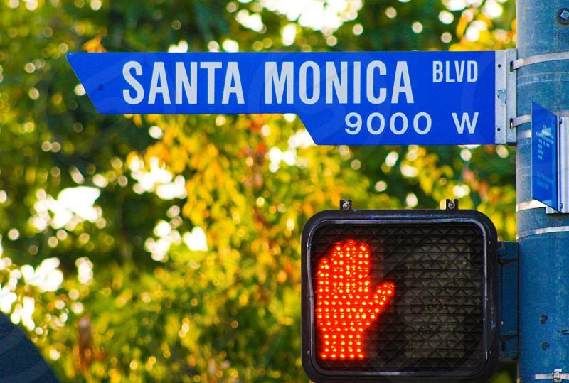 Sign Santa Monica CA photo