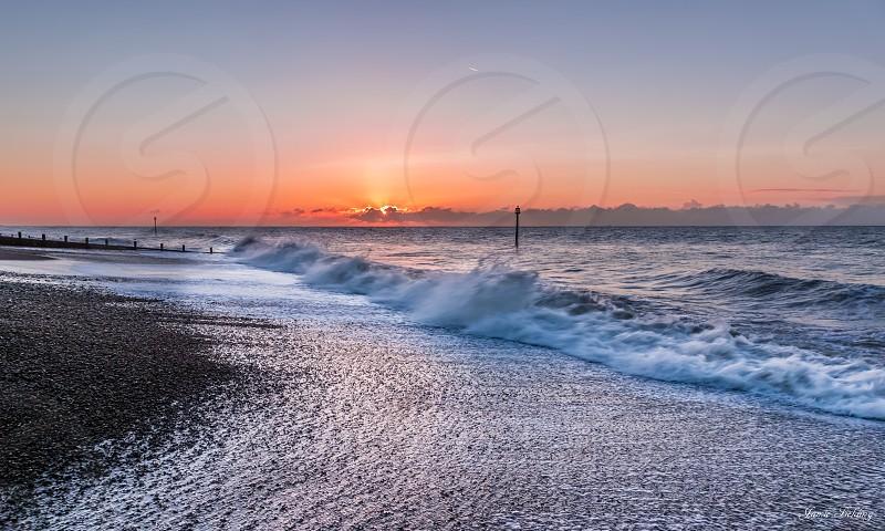 Sea surf seascape water waves ocean colours dawn sunrise morning beautiful splash Sony  photo