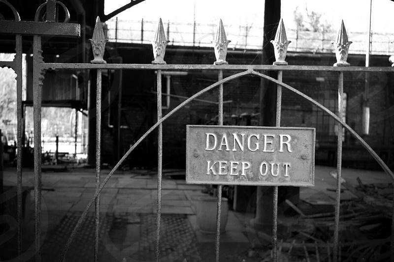 Danger industrial abandoned site photo