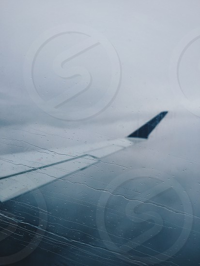 Rain cloud during my flight.  photo