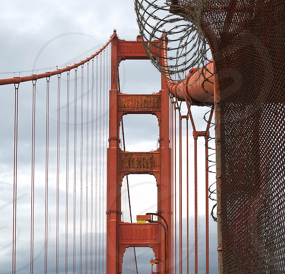 Golden gate San Francisco California architecture towers red attraction photo