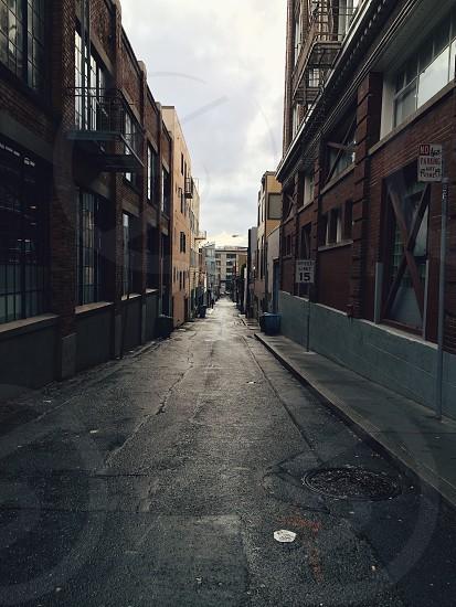 Wet street in San Francisco photo
