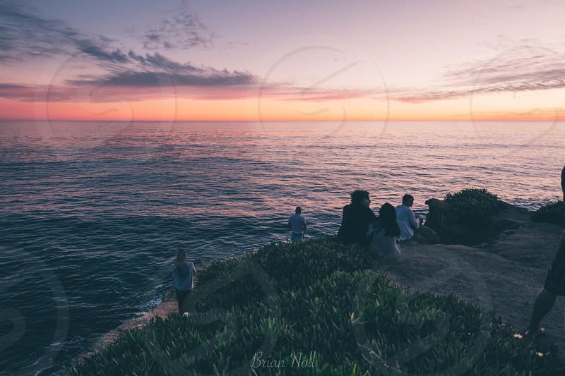 California Santa Cruz ocean beach sunset beauty  photo