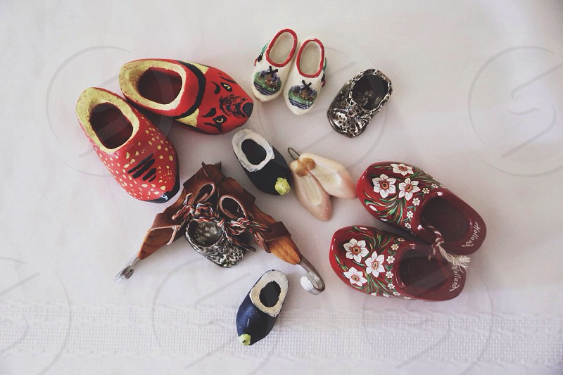 painted ceramic clogs photo