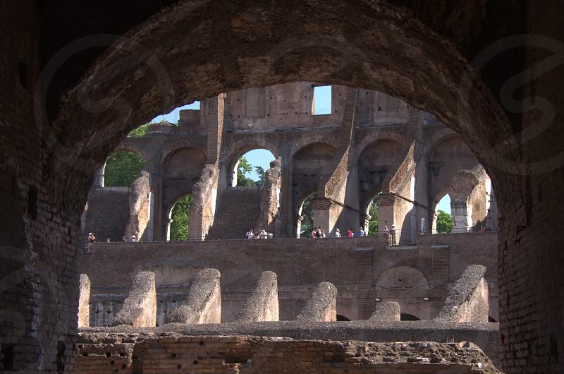 Roman Colosseum Detail photo