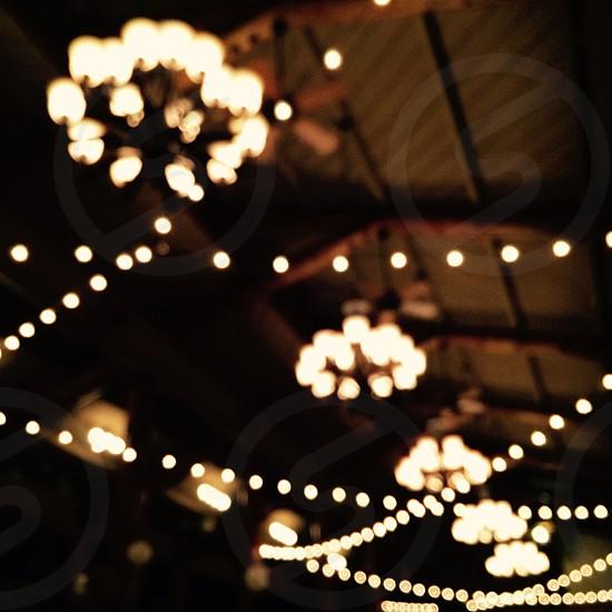 Unfocused lights photo