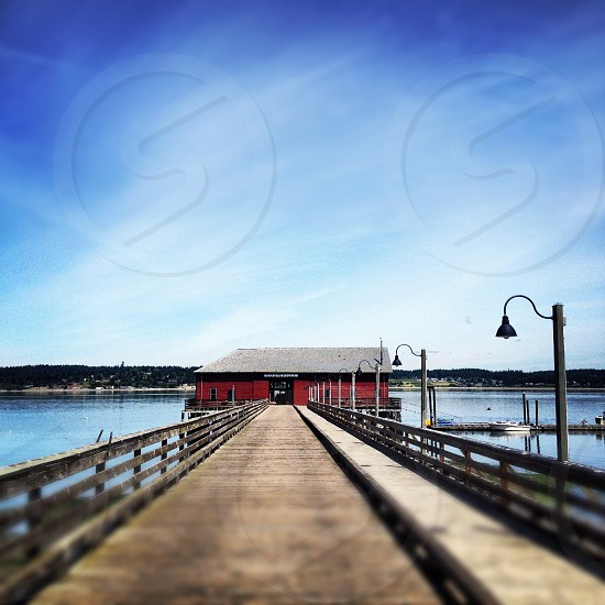 grey and red room and brown dock photography photo