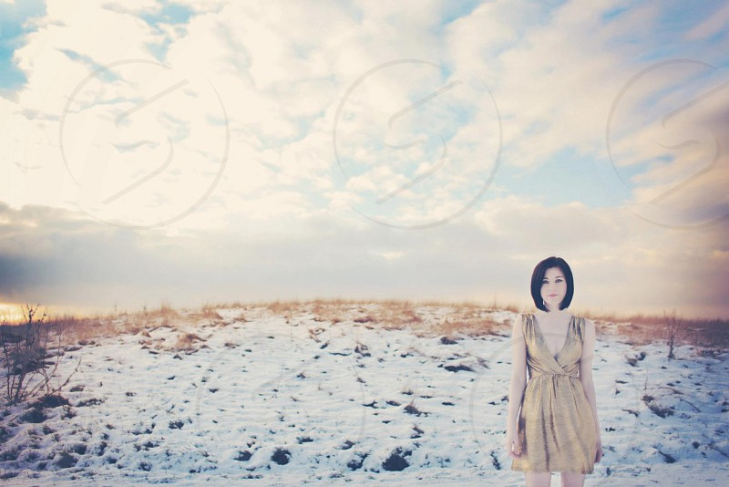 Golden winter photo