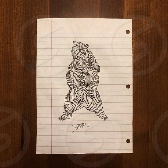 I love drawing. And I love bears. Hope you like it.  photo