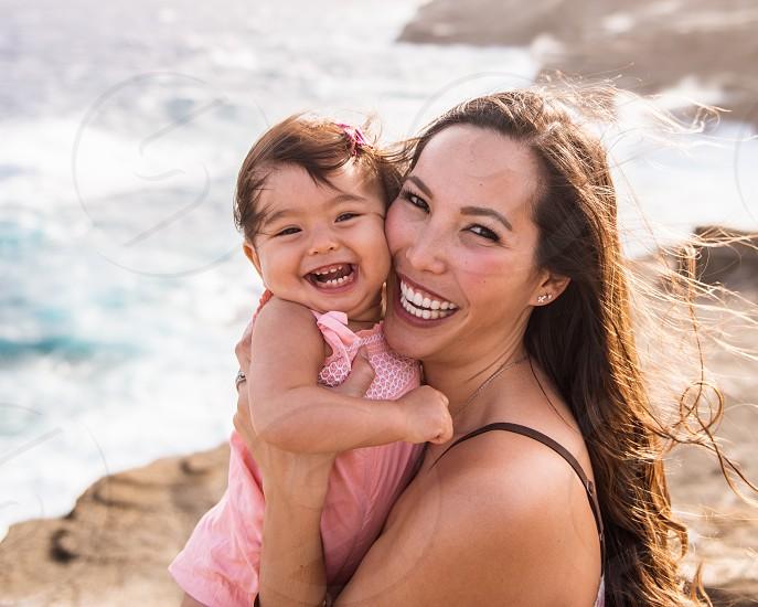 Enjoying the beautiful outdoors on the island of Oahu. photo
