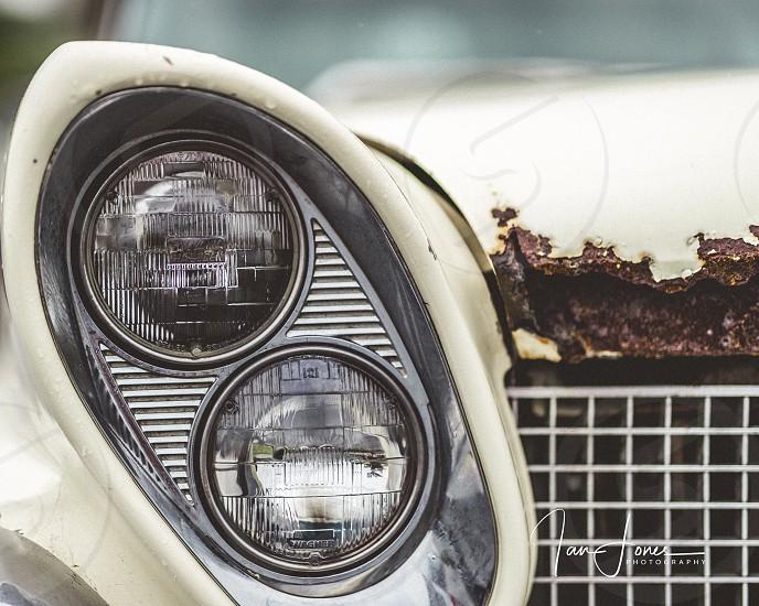 Head lights high beam circle car vintage car Ian Jones Photography canon 1DX ii automobile  photo