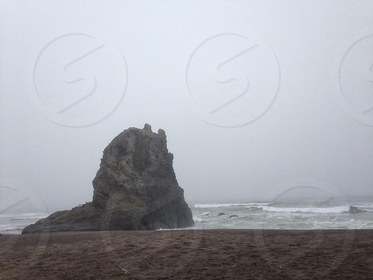 foggy view in ocean photo