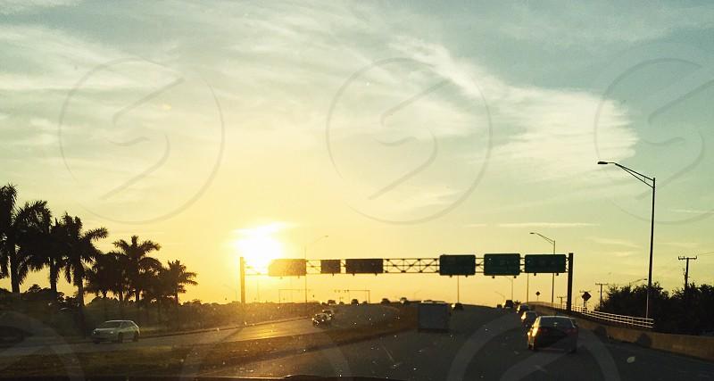 Palm Beach Florida sunset  photo