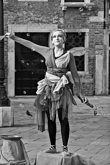 A Street Entertainer in Venice photo