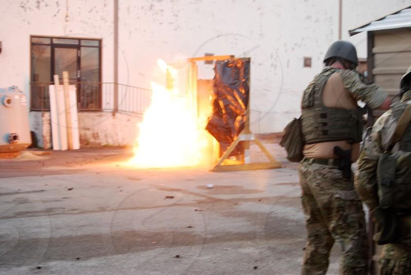 SWAT demo/door breach photo