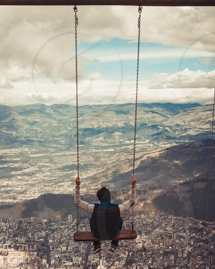 swing and touch the sky photo