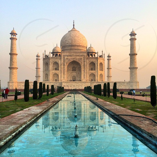 Sunrise at the Taj Mahal photo