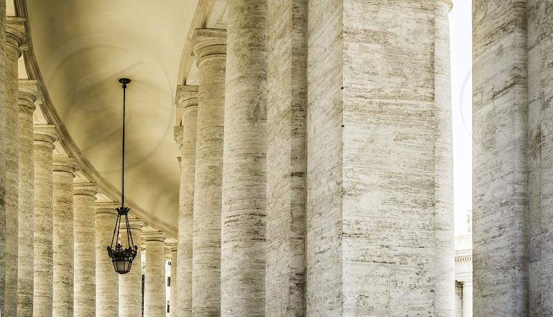 St. Peter's Squar Vatican Rome. Architectural details photo